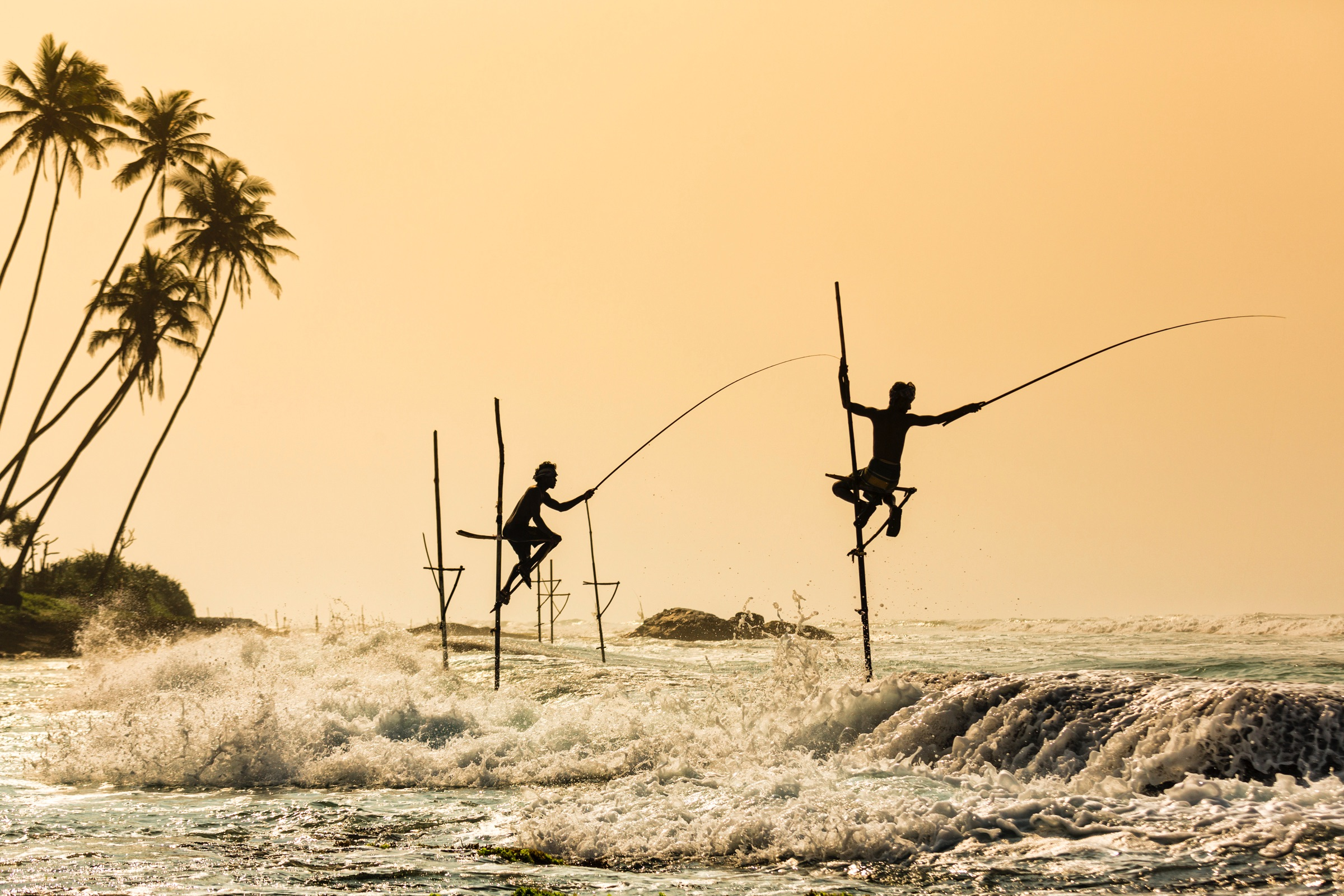 Stilt Fishermen near Galle